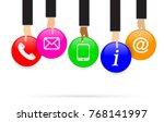 internet website customer... | Shutterstock .eps vector #768141997