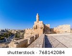 king david's tower  citadel  in ... | Shutterstock . vector #768142084