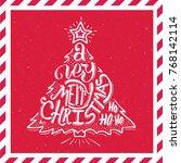 very merry christmas ho ho ho...   Shutterstock .eps vector #768142114