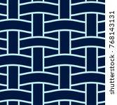 basket weave seamless pattern.... | Shutterstock .eps vector #768143131