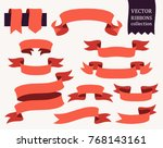 vector collection of decorative ... | Shutterstock .eps vector #768143161