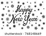 raster copy happy new year.... | Shutterstock . vector #768148669