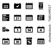 origami style icon set  ... | Shutterstock .eps vector #768149017