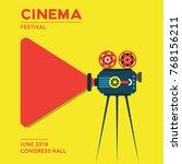 movie cinema poster design.... | Shutterstock .eps vector #768156211