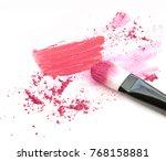 make up blush crushed powder... | Shutterstock . vector #768158881