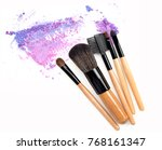 crushed eyeshadow and blush set ... | Shutterstock . vector #768161347