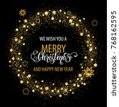 merry christmas and happy new... | Shutterstock .eps vector #768162595