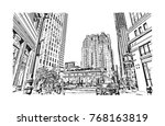 sketch illustration of grace... | Shutterstock .eps vector #768163819