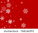 white snowflakes falling on red ...   Shutterstock .eps vector #768166591