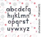 decorative memphis style font...   Shutterstock .eps vector #768166651