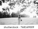 black and white portrait of a... | Shutterstock . vector #768169009