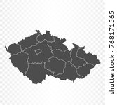 czech republic map isolated on... | Shutterstock .eps vector #768171565