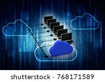 3d rendering cloud  folder... | Shutterstock . vector #768171589