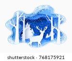 3d abstract paper cut... | Shutterstock .eps vector #768175921