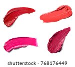 collection of various lipstick...   Shutterstock . vector #768176449