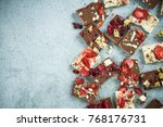 artisan handmade chocolate...   Shutterstock . vector #768176731