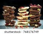 handmade artisan chocolate... | Shutterstock . vector #768176749