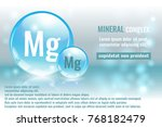 mineral mg  magnesium complex... | Shutterstock .eps vector #768182479