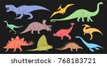 vector set of geometrically... | Shutterstock .eps vector #768183721
