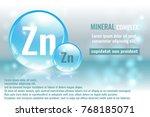 mineral zn  zincum complex with ... | Shutterstock .eps vector #768185071
