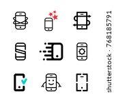 mobile phones and smartphones... | Shutterstock .eps vector #768185791