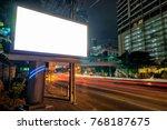 blank template for outdoor...   Shutterstock . vector #768187675