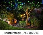 home garden illumination autumn ...   Shutterstock . vector #768189241