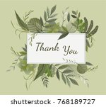 vector card design with  flower ... | Shutterstock .eps vector #768189727