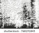 distressed overlay texture of... | Shutterstock .eps vector #768191845