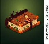 magic forest book. cartoon...