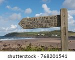 signpost for the south west... | Shutterstock . vector #768201541