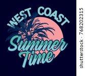 summer time  tee print vector... | Shutterstock .eps vector #768202315