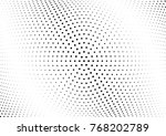 abstract halftone wave dotted... | Shutterstock .eps vector #768202789