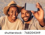 close up of happy young african ... | Shutterstock . vector #768204349