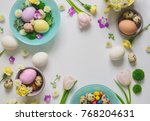 easter greeting floral...   Shutterstock . vector #768204631