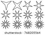 Star   Vector Set   Black On...