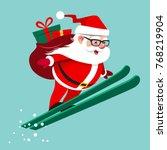 vector cartoon illustration of... | Shutterstock .eps vector #768219904