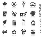 set of eco icons  recycle ... | Shutterstock .eps vector #768224149