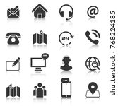 set of contact us icons  map...   Shutterstock .eps vector #768224185
