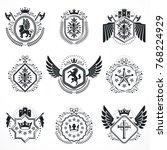 vintage emblems  vector... | Shutterstock .eps vector #768224929