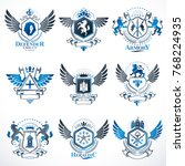 vector vintage heraldic coat of ... | Shutterstock .eps vector #768224935