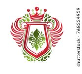 vintage heraldic insignia made... | Shutterstock .eps vector #768224959