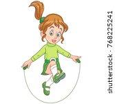 kids leisure activities.... | Shutterstock .eps vector #768225241