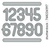 set of stylish disco vector... | Shutterstock .eps vector #768226597
