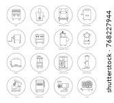 kitchen equipment for... | Shutterstock .eps vector #768227944