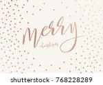 vector modern design merry... | Shutterstock .eps vector #768228289