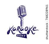 stage microphone vector... | Shutterstock .eps vector #768228961