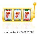casino slot machine stock... | Shutterstock . vector #768229885