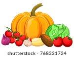 illustration of vegetables...   Shutterstock .eps vector #768231724