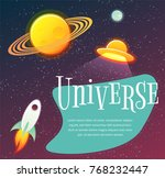 space banner with planets ...   Shutterstock .eps vector #768232447